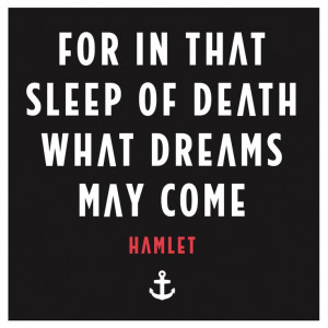 Hamlet What Dreams May Come Quote