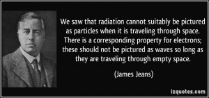 We saw that radiation cannot suitably be pictured as particles when it ...