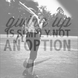 softball picture with a quote (: