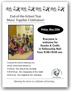 End-of-the-School Year Celebration-Friday, May 25th! – Early