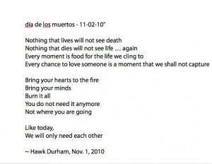 Read Hawk Love Poem Aloud...