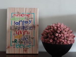 hand painted quotes on wood