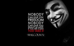 Nobody can give you freedom nobody can give you equality or justice if ...