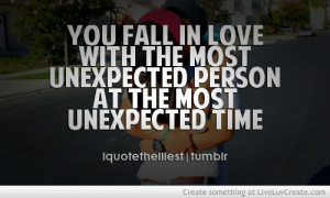 cute, fall in love unexpected peson unexpected time, inspirational ...