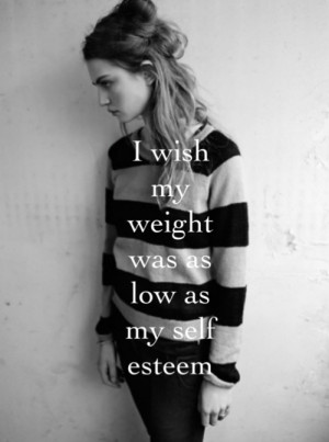 depressed depression sad skinny thin fat ugly weight anorexia bulimia ...