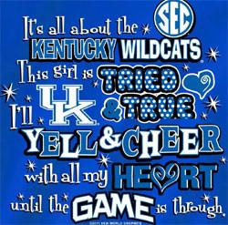 Kentucky Wildcats Football T-Shirts - Yell For UK Sec Best