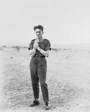 Lawrence as Aircraftman T E Shaw on the aerodrome at Miranshah ...