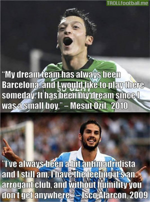 Ozil & Isco before joining Real Madrid