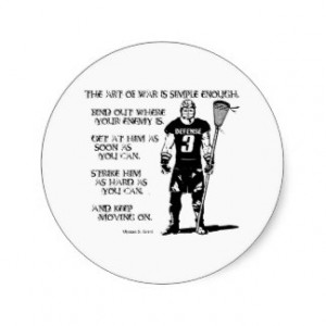 Lacrosse Defense Quote2 Sticker Round Sticker