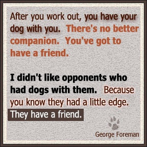 George Foreman sounds like an observant and wise man