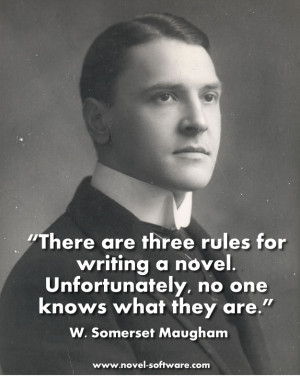 Best Writing Quotes - the rules of writing a novel