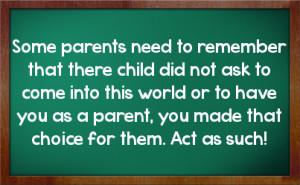 Parenting Facebook Status On Chalkboard Background