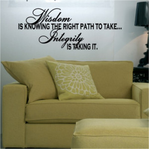 Wisdom Quote vinyl lettering wall art home room decor sayings ...
