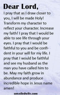 Lord, I really appreciate the man you have gifted to me as my husband ...