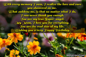 My Own Birthday Quotes Sayings With every memory i own,