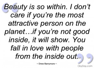 beauty is so within drew barrymore