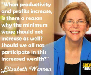 Elizabeth Warren speaks about corporate greed. Record profits should ...