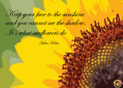 Inspirational Quotes About Sunflowers Atc with inspirational quote -