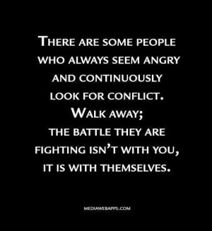 try to stay away from the toxic people, they are the ones who come you ...