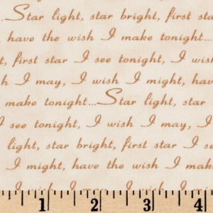 44'' Wide Pinocchio Wishes Upon A Star Pinocchio Quotes Cream/Brown ...