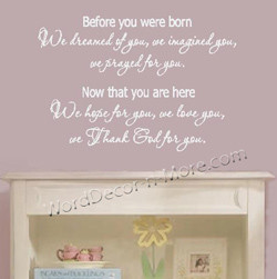 1099 DREAMED OF YOU Nursery Wall Quote