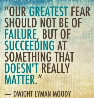 ... that doesnt really matter' ~ dwight l moody ~ quotes & wisdom