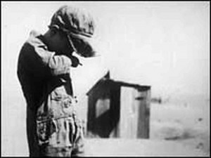 hide caption A young boy in the Dust Bowl region of the United States ...