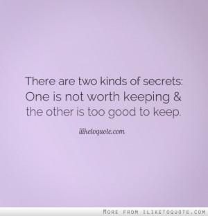 is it worth having a secret relationship