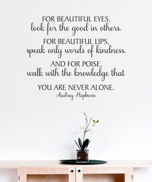 ... Hepburn Black 'For Beautiful Eyes' Wall Quote from Belvedere Designs
