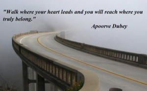 footprints in your heart quote