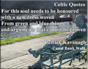 Illustration of Patrick Kavanagh quote: