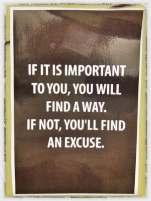 Excuse Quotes