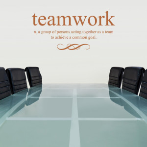 Home » Quotes » Teamwork Defined - Quote - Wall Decals
