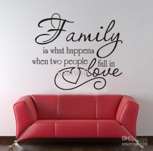 Wholesale Family amp Friends Wall Quote Decal Sticker Decor Lettering