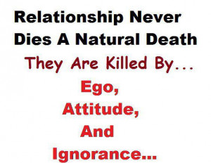 Inspirational Quotes relationship never dies a natural death