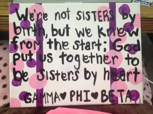 Gamma Phi Beta Sister Quote