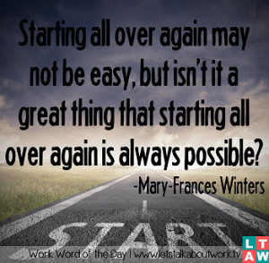 Starting All Over Again Quotes