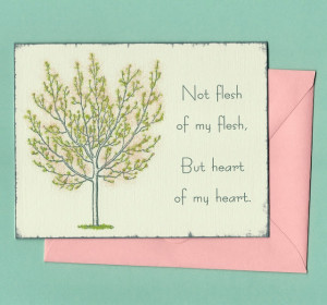 Adoption Mother's Day Card - a card for adoptive Mothers