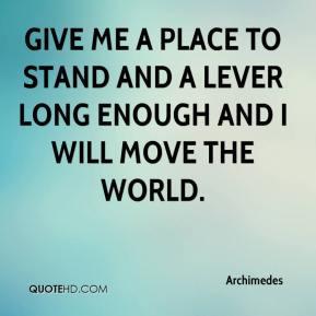 Archimedes Wisdom Quotes
