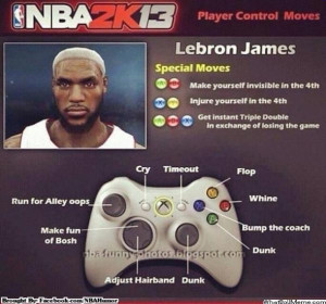 So during game one of the NBA Finals we found out that LeBron will be ...