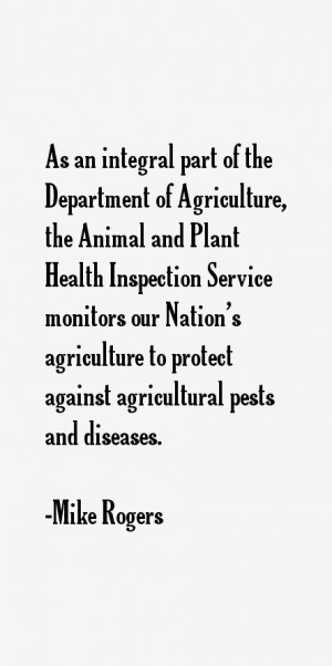 As an integral part of the Department of Agriculture the Animal and