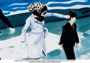 elizabeth peyton's painting of jackie and john