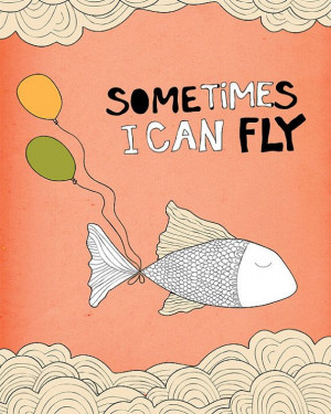 Motivational quote Wall Decor fish by PrintableWallStory on Etsy, $5 ...