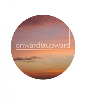 inspriational quote circle print quote art sky and birds landscape art ...