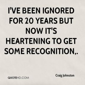 Craig Johnston - I've been ignored for 20 years but now it's ...