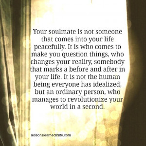 Your soulmate.