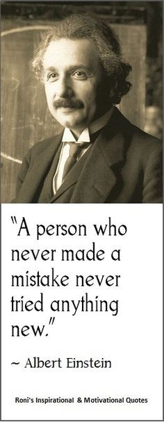 Albert Einstein a Person Who Never Made a Mistake