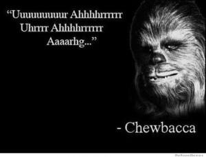 Uuuuuur Ahhhhhrrr Uhrrr Ahhhrrr Aaargh – Chewbacca