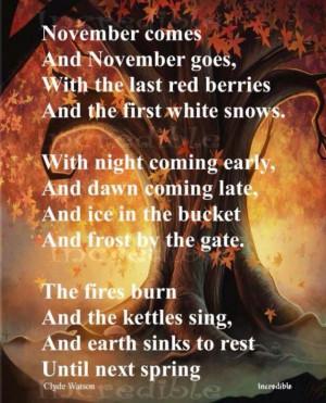 Fall.. November.. Beautiful quotes