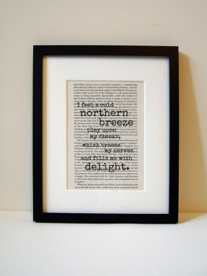 Frankenstein - Book Quote Print - Birthday Gift - Mothers Day Gift ...